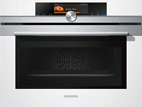 Siemens CM678G4W1 iQ700 Mikrowelle / 1000 W / 45 L Garraum / activeClean - Selbstreinigungs-Automatik / weiß