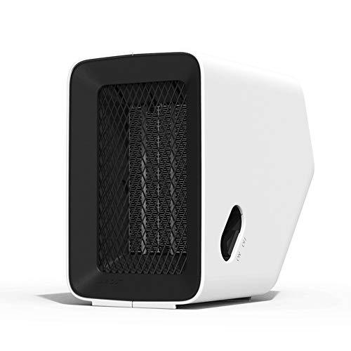 NIUFG Calentador eléctrico multiángulo de 500W para el hogar y la Oficina, Ventilador de Aire Caliente, Calentador de Invierno (Color : White)