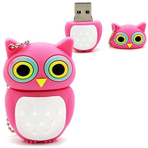 Pen drive 32Gb Presente Personalizado Coruja Rosa USB 2.0