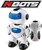 Ninco Nbots Robot Glob. Con luz y sonido, color blanco y azul NT10039