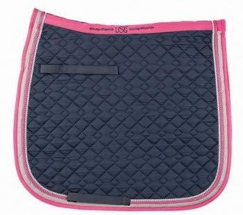 USG Baumwollschabracke, Dressur, Warmblut, Marine/Pink/Beige