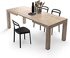 Mobili Fiver, Extendable Kitchen Table, Iacopo, Oak, Laminate-finished, Made in Italy