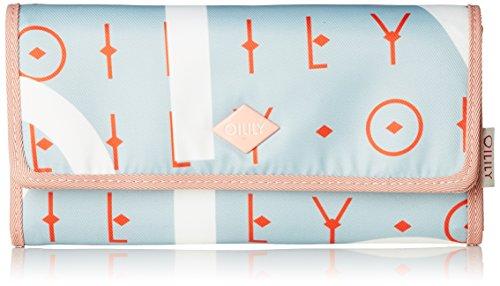 Oilily Damen Groovy Letters Purse Lh12f Geldbörse, Blau (Light Blue), 1x10x18 cm