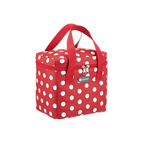 Coolmovers Kühltasche 5 l, Snack Kühltasche, Rot mit weißen Punkten