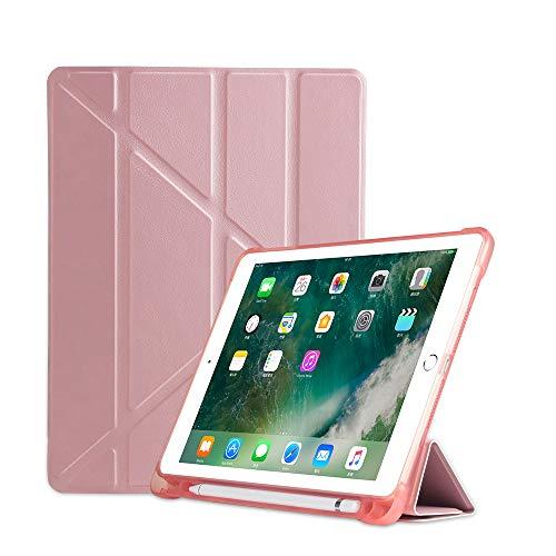 MadeRy Custodia iPad 2018 & 2017 9.7' / iPad Pro 9.7' / iPad Air 2 / iPad Air, Antiurto Smart Cover Ultra Sottile e Leggere con Protettivo Portapenne e Auto Svegliati/Sonno, Oro rosa