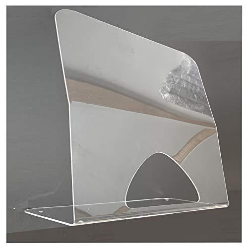 HOKU Holzhäuser Kunststofftechnik Spuck Schutz für Schreibtische, Desktop, Theke, Schild/Niesschutz aus Acrylglas XT 50 x 50 cm