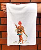 Hand Towel Hilda Collecting Flower Bouquet Chubby Redhead Pinup Sexy Girl Hilda by Duane Bryers Microfibre Towel 12'x25'