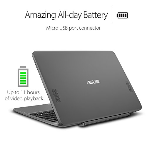 Product Image 5: ASUS Transformer Book T101HA-C4-GR 10.1-Inch 2-in-1 Ultraportable Laptop with Intel Core X5 1.44 GHz 4GB 64GB HD Windows 10 Touchscreen, Gray