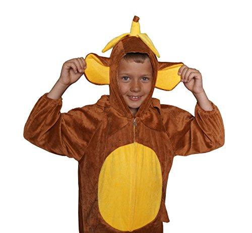 Schimpanse Karneval Kostüm Kinder Fasching extrem weich Gr. 128