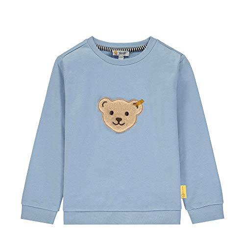 Steiff Jungen Sweatshirt, Blau (Forever Blue 6027), 86 (Herstellergröße: 086)
