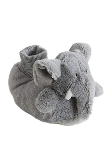Vertbaudet Kuschelige Jungen Hausschuhe, Elefant grau 28/29