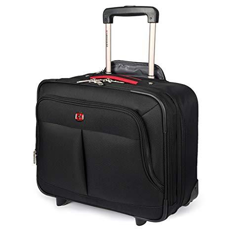 Transporttasche, Schale Rigido, Rollblech, leichtgewichtig, ausziehbarer Trolley für Bagagli, Business Koffer für 16 Zoll (16 cm), Schwarz 16inch Schwarz