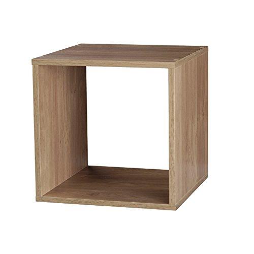 Top Marques Collectibles Bücherregal Taylor & Brown® aus Holz mit 1, 2, 3, 4 Ablagen Modern Cube eiche