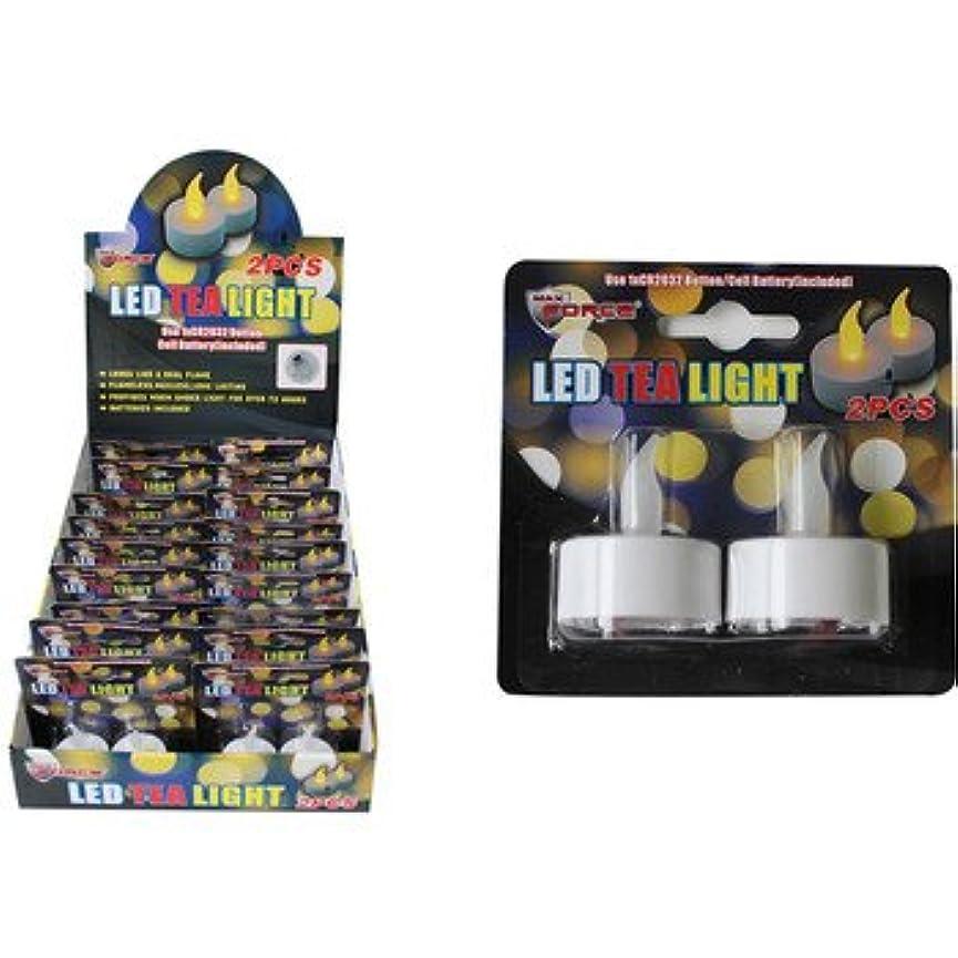 悪性のつぶす放課後DDI 2125463 2-Piece LED Tea Lights Case of 18