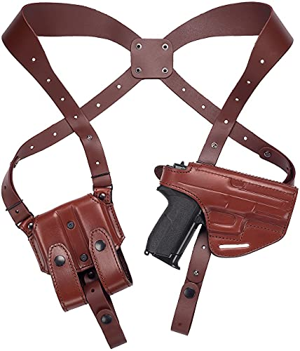 Craft Holsters FN FNS 40 Compact Compatible Holster - Lined Shoulder Holster System (42/22EX-MAH)