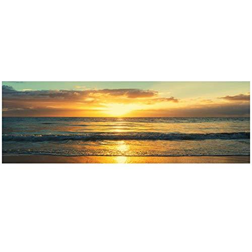 KBIASD Nature Ocean Beach Sunsets Panorama Paisaje Lienzo Pintura Escandinava Pósters e Impresiones Arte de la Pared Cuadro para Salón de Estar-30100cm Sin Marco