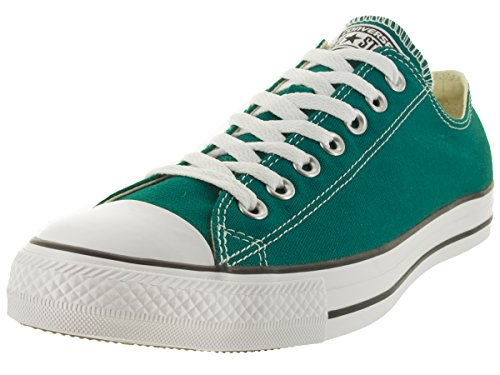 Converse Unisex Men's Chuck Taylor All Star OX Fashion Sneaker Oxford Shoe, Teal/White/Black, 4