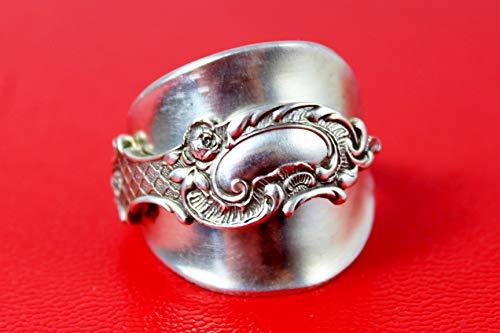 Rokoko Besteck Schmuck Ring, ca. 64 (20,5) Ring aus Besteck