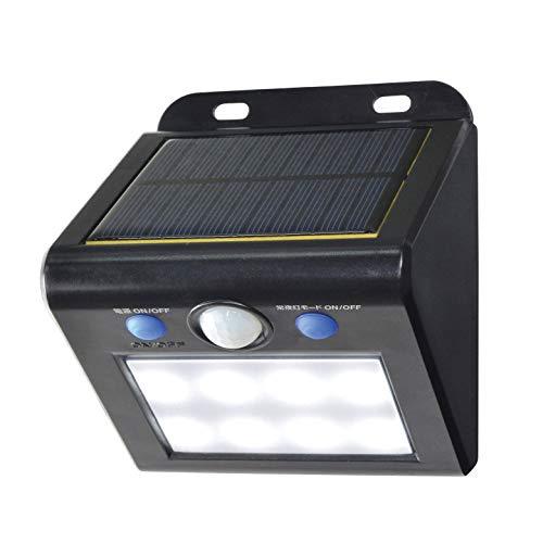 ELPA エルパ LEDセンサーウォールライト(小) 白色 場所を選ばないソーラー式 明暗人感センサー&常夜灯切替可能 安心な防水タイプ ESL-K101SL(W)