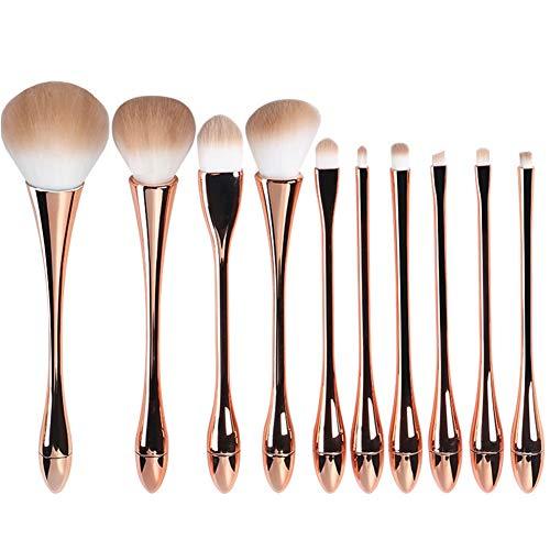 ZXIAOMEI Maquillage professionnel brosse de brosse courbée Bar Non irritant fibres synthétiques Soies Belle et portable