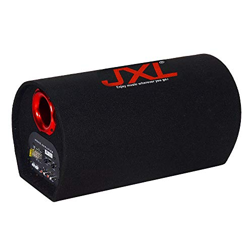 JXL 8018 8 Inch Active Bass Tube Subwoofer with Inbuilt Amplifier 4200W (Black)