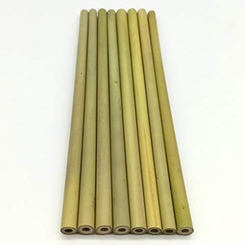 Vkospy 10pcs Verde de bamb/ú Natural pajas de Beber Inicio Reutilizable respetuosa del Medio Ambiente de la Cocina Cepillo de Limpieza
