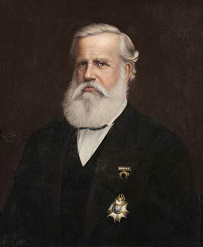 """Retrato de D. Pedro II Pintura de Auguste Petit 1882 em Tela""""Canvas"""" Repro (Tela""""Canvas"""", 70cm X 55cm Tamanho de Imagem)"""