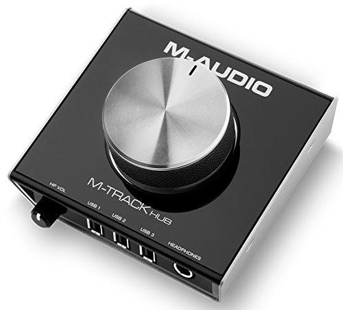 M-Audio M-Track Hub | USB Monitoring Interface with Built-In 3-Port Hub (24-bit/48 kHz)