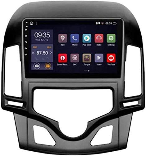 Coche Estéreo GPS Navegación Compatible Con Hyundai I30 2006-2011 Auto Audio Player Android 10.0 Unidad De Cabeza SAT NAV MP5 Player FM Radio SWC Pantalla Táctil De 10 Pulgadas,4 core WiFi 1+16GB
