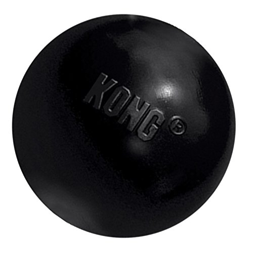 KONG - Extreme Ball - Durable Rubber Dog Toy for Power Chewers, Black - for Small Dogs