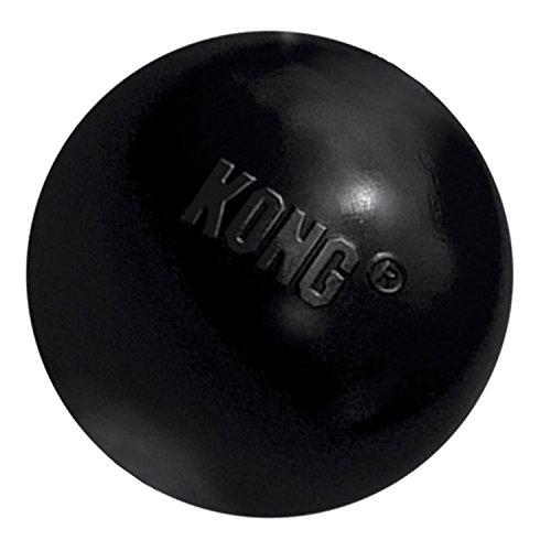 KONG - Extreme Ball - Gioco Gomma Resistente per Cani con Masticazione Energica, Nero - per Cani di Taglia Piccola
