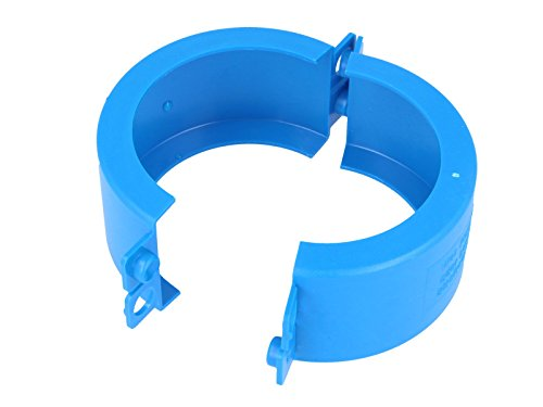 JS Plombierschelle 1 1/2 Zoll, blau, beschriftet, 2-teilig