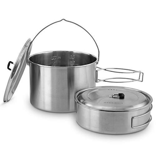 Solo Stove 2 Pot Set: Edelstahl-Kochtopfset, passend Campfire. Toll für Backpacking, Camping, Überlebenstraining
