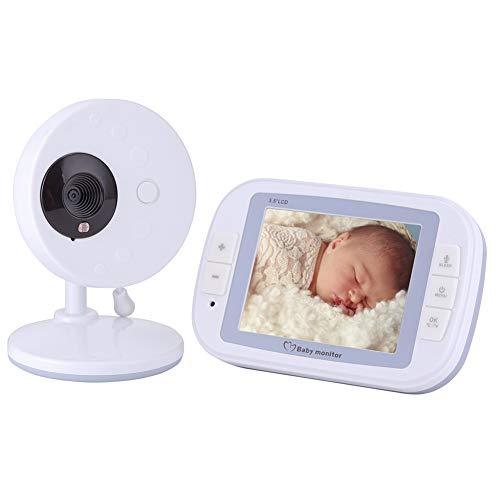 YZY 2,4-inch draadloze video-babyfoon met nachtzichttemperatuursensor 2-weg-talk en slaapliedjes, wit