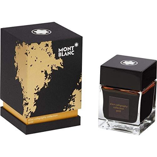 Montblanc 119592 - Bicchiere per calligrafia Elixir, 50 ml, colore: Giallo oro