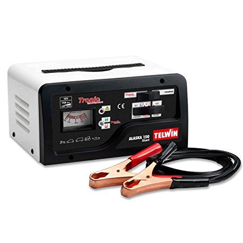 Telwin TE-807576 Cargador de Bateria, 180 W, 230 V, Rojo y negro