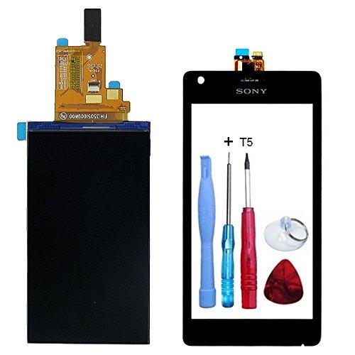 Display LCD-Display + Touchscreen, schwarz Sony Xperia M (C1904/C1905) + Doppelseitiges Klebeband + Werkzeug–Fassade Farbe schwarz