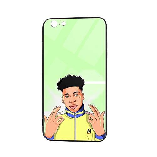 NLE Choppa Phone Case for iPhone 6/6S TPU Glass Phone Full Protective Case