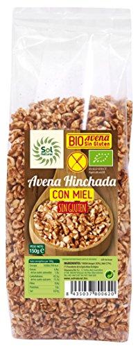 Sol Natural - Avena Hinchada con Miel, sin Gluten,150 gr