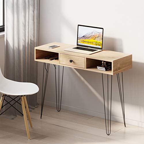 Computer Desk Console Table,Home Office Desk Study Writing Table with Drawers and Storage Laptop Table Study Table for Home Office,100x35x75cm