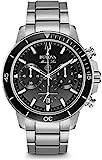 bulova orologio cronografo quarzo uomo con cinturino in acciaio inox 96b272