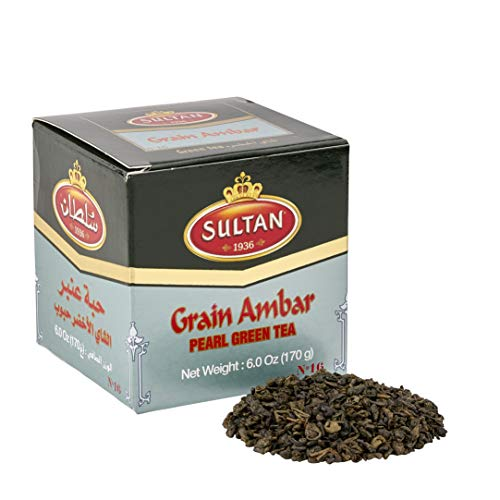 SULTAN TEA Marokkanischer Ambar Lose Grüner Tee Kräutertees 170g (Packung mit 2 - 340g)