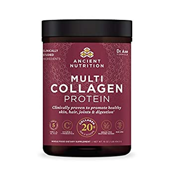 Collagen Powder Protein with Probiotics by Ancient Nutrition Unflavored Multi Collagen Protein with Vitamin C 45 Servings Hydrolyzed Collagen Peptides Supports Skin and Nails Gut Health 16oz