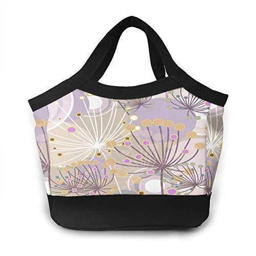 Dandelion - Bolsa de almuerzo portátil para mujer, aislada, a prueba de fugas, para escuela, trabajo, picnic, etc.