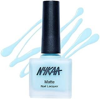 Nykaa Matte Nail Enamel - Cool Blue Granita, No 17 (9 ml)