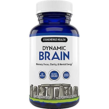 Stonehenge Health Dynamic Brain Supplement – Memory Focus & Clarity– Formulated with 40 Unique Nootropic Ingredients Including Phosphatidylserine Bacopa Monnieri and Huperzine A  1 Pack