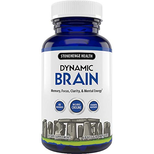 Stonehenge Health Dynamic Brain Supplement – Memory, Focus, Clarity– Formulated with 41 Unique Nootropic Ingredients Including Phosphatidylserine, Bacopa Monnieri, and Huperzine A (1 Pack)