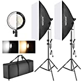 Neewer Kit Iluminación Softbox con LED Regulable Bicolor: Softbox...