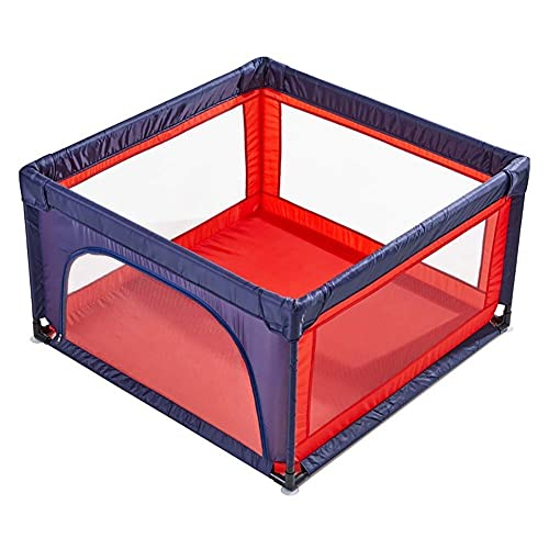 NMDCDH Corralitos para bebés y niños pequeños, Patio de Juegos de Seguridad, hogar, Interior, Exterior, Nuevo bolígrafo anticaída, Extra Alto 70 cm, Rojo (tamaño: 120120 cm)
