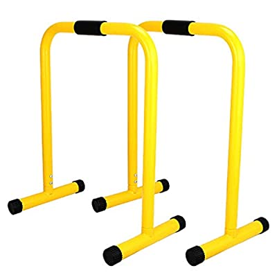 amidoa Dip Stand Station 350LBS Adjustable Height Fitness Parallette Dip Bar Station Dip Bars Fitness Strength Training Equipment for Man Wowen Home Gym Full Body Workout Exercise